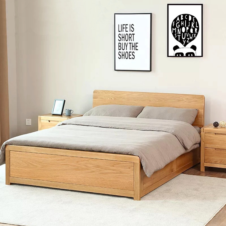 Package parcel installation solid wood box bed, 1.8 meters high box bed, 1.5 meters solid wood double bed, peninsula box storage bed