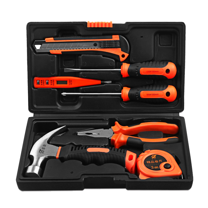Thick politics household screwdriver toolbox, hardware tool combination, vehicle tool pliers, electrician trumpet toolbox