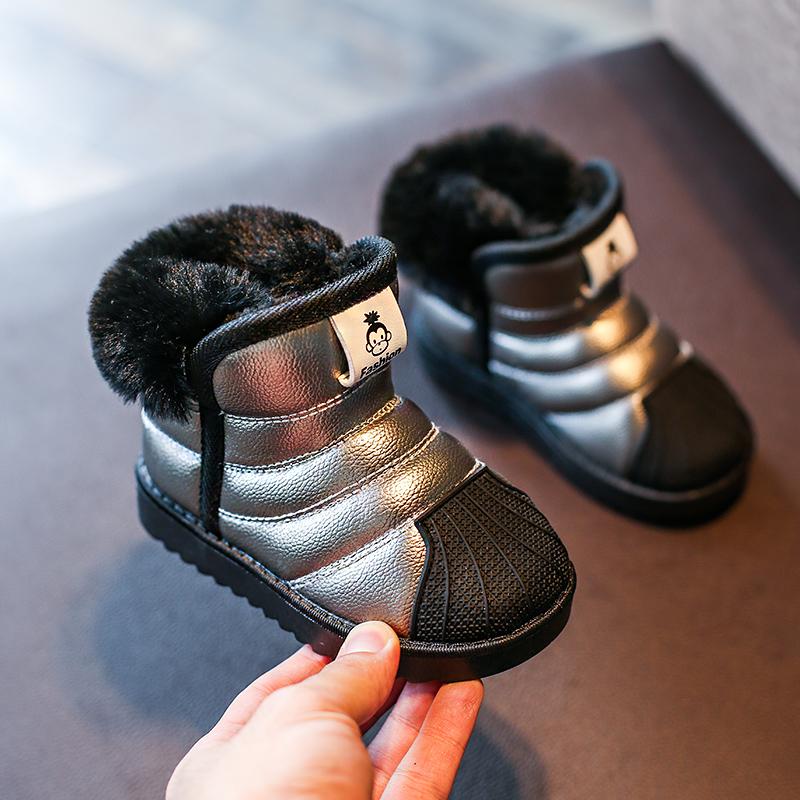 天天特价冬季儿童雪地靴防水防滑宝宝雪地靴男童鞋女童棉鞋保暖鞋