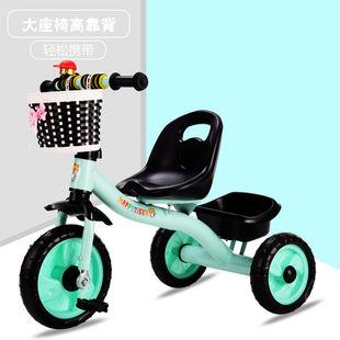 儿童脚踏车手推车小孩脚蹬三轮车自行车