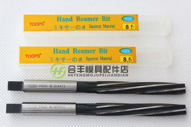 Tops toops spiral hand reamer 2/2.5/3/4/4.5/5/5.5/6/6.5/7/7.5mm