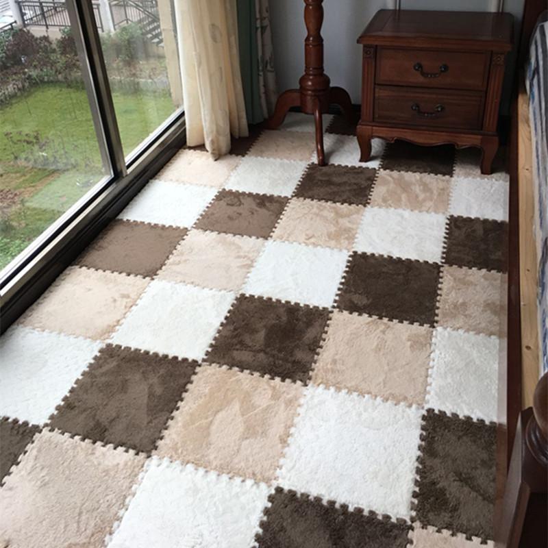 splejsning tæppe i soveværelset. dækket med ruskind tæppe fortykket store seng tatami piaochuang baby kravle blok