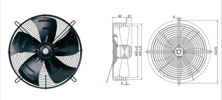 DEM Rotor - YWF4D-400YE-400 kühlhaus kühler Luft - wärmepumpen axialventilatoren.