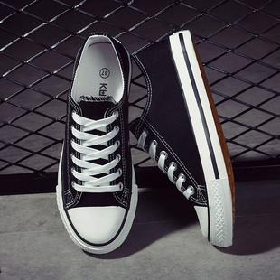 秋天新品男士帆布鞋休闲鞋男学生透气布鞋潮板鞋低帮小白鞋子潮流