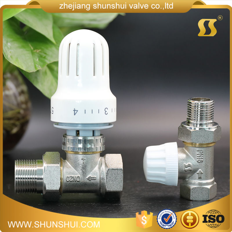 [] smooth automatic angular / straight type radiator temperature control valve special copper copper radiator temperature control valve