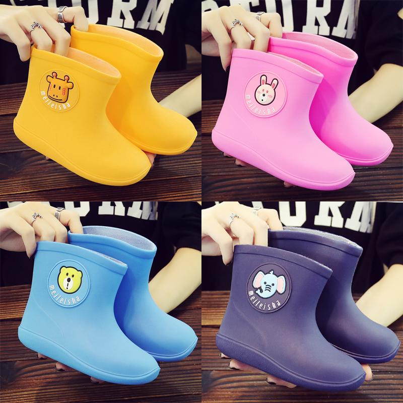 日本儿童雨鞋男女童防滑底宝宝雨鞋幼儿小孩水鞋四季通用雨靴雨鞋