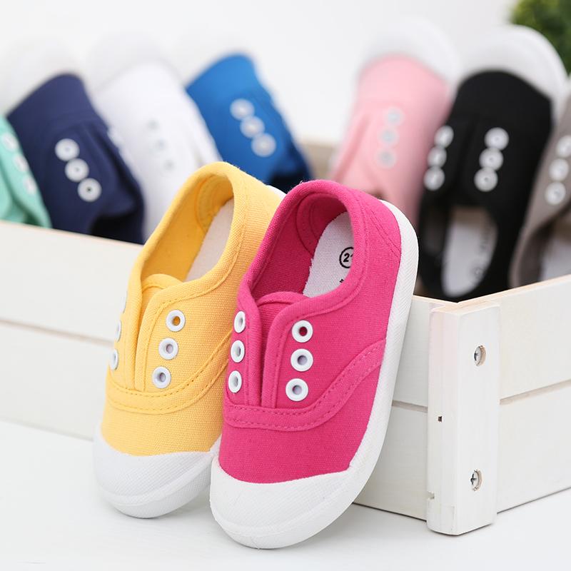秀才团购儿童帆布鞋男童魔术贴布鞋女童秋季小白鞋板鞋白色球鞋子