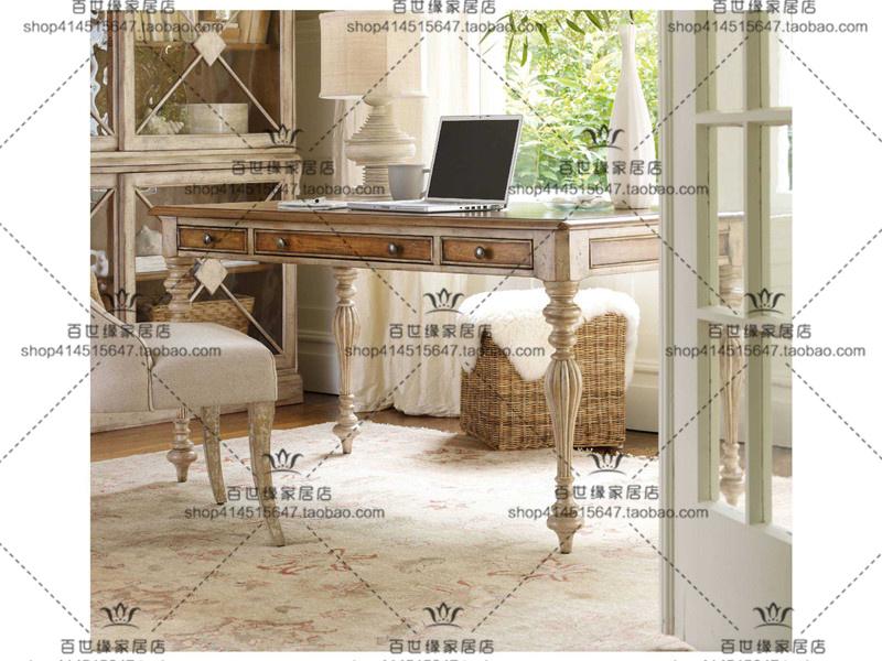Le Bureau américain de rétro - français en bois vieux Bureau européen rectangulaire simple table de bureau informatique