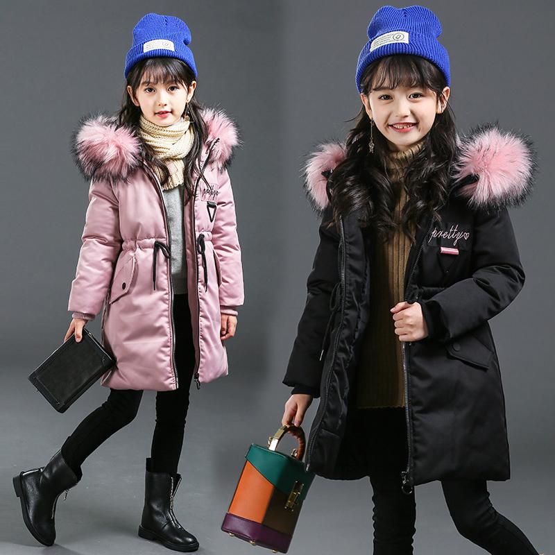 女童冬装7中长款棉衣9中大童10加厚公主羽绒棉服12小女孩15岁保暖