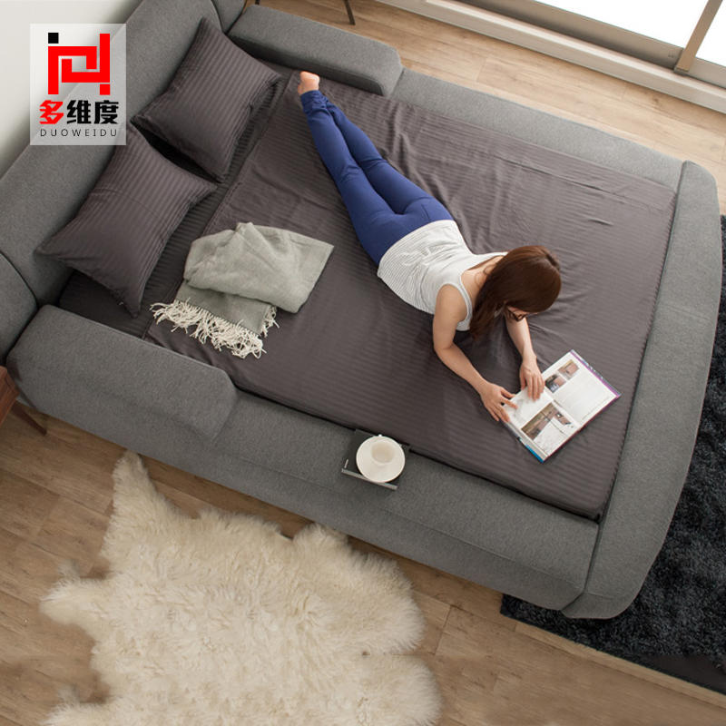 Fabric bed washable cloth bed 1.8 meters Nordic modern minimalist Japanese double bed.