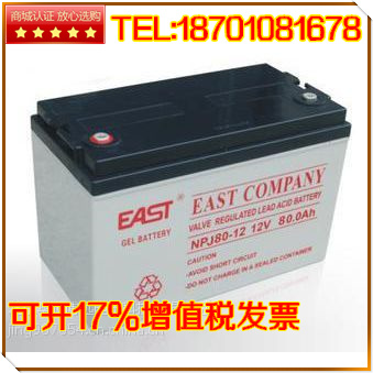 EAST battery 12V80AH Guangdong EAST NP80-12 maintenance free UPS/EPS/ DC screen sufficient