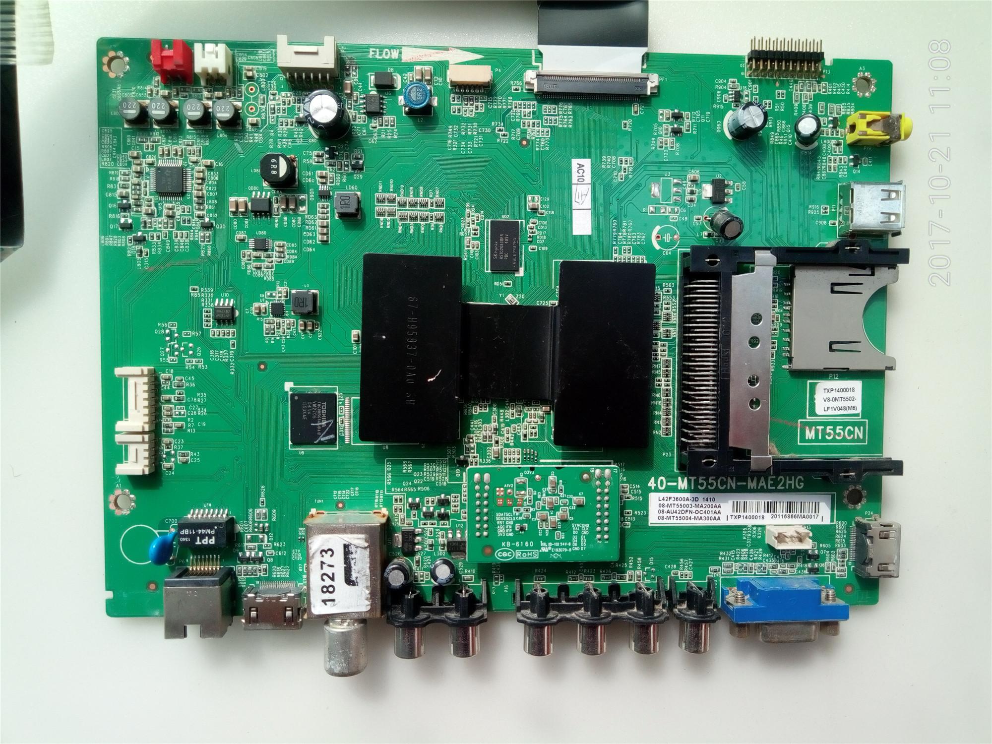 42 인치 액정 평면 텔레비전 TCLL42F3600A-3D 기계의 중심부 구동 메인보드 전원 일체 RY456