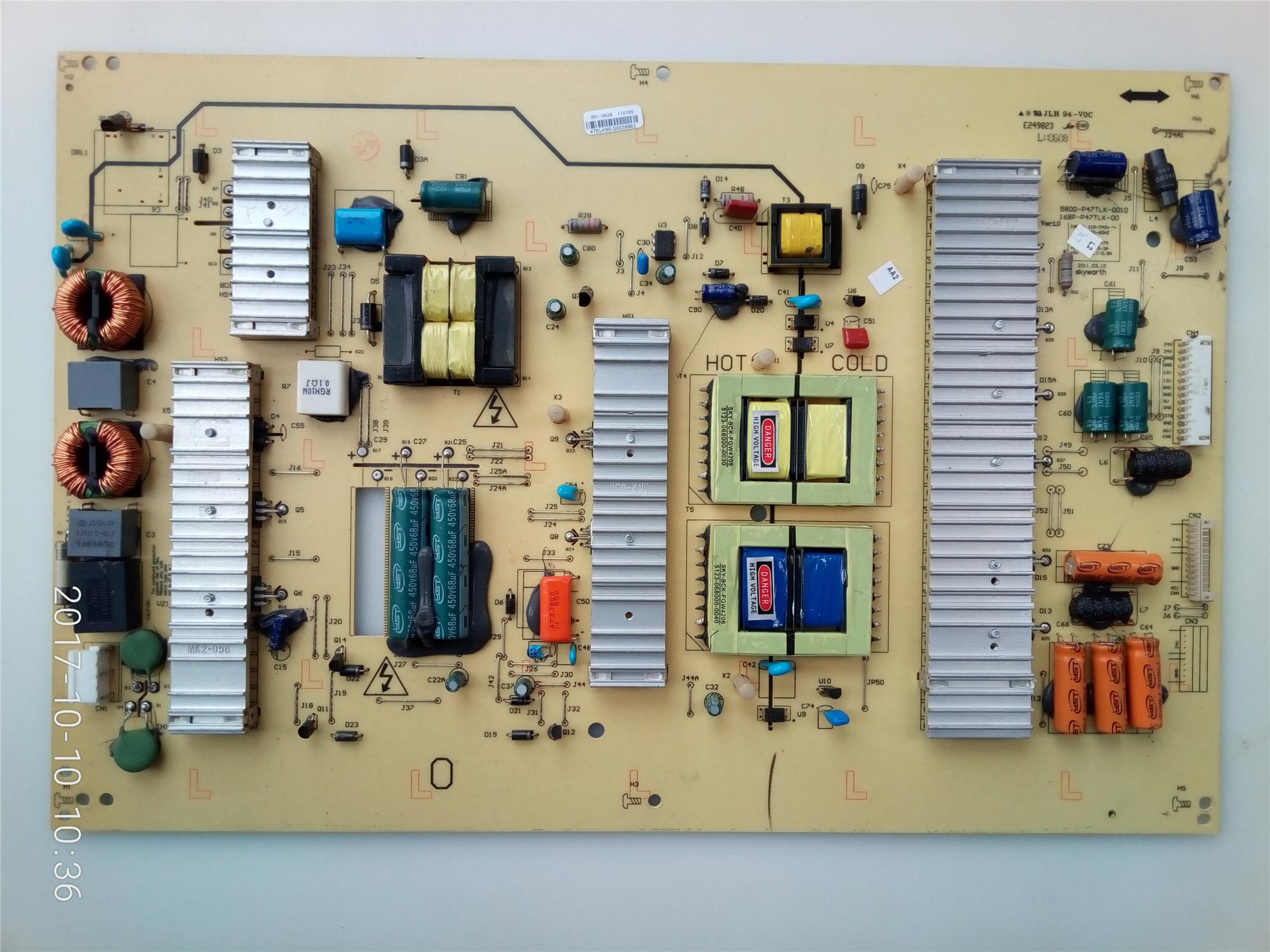 razsežnost 42E60HR lcd tv 5800-P47TLK-0000168P-P47TLK-00 prvotni napajalne plošče