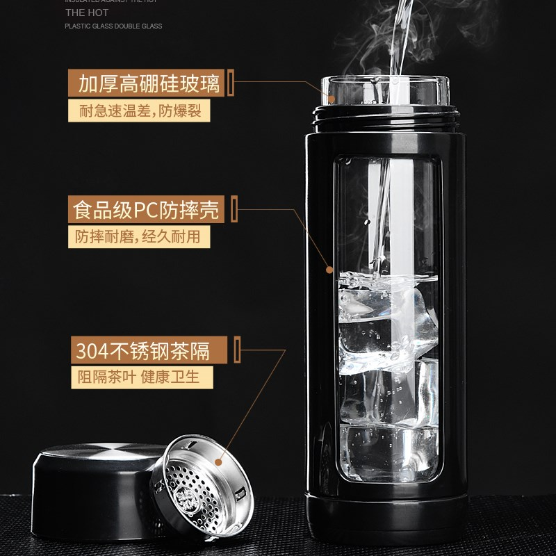 o sticlă de vid dublă izolare termică a bărbat adult de sticlă vidat doamna anti - cana cu ceai.