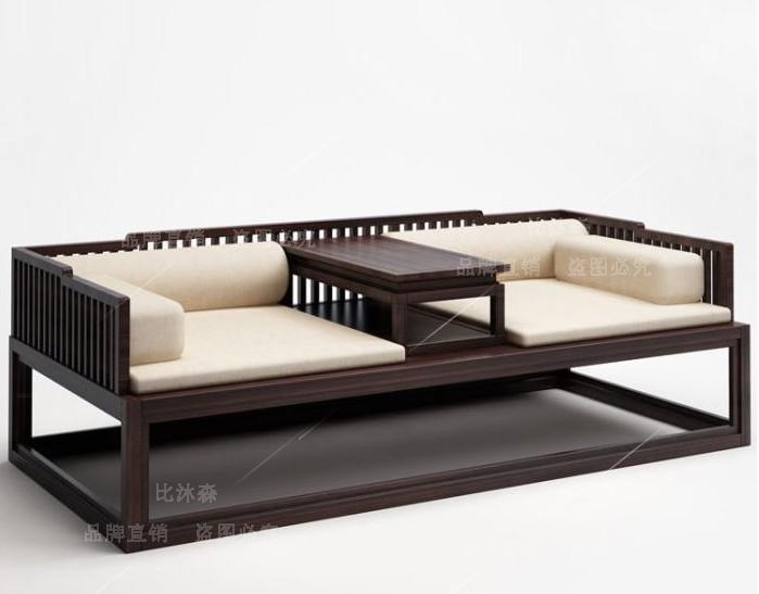 新中国の羅漢ベッド木造式座敷ペアソファベッド現代シンプル禪の教えにも少なからず寝込んだホテル家具