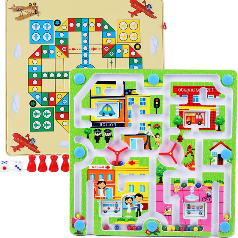 3 - Yi lo Sviluppo dell'intelligenza DI VOLO a labirinto di trasporto dei Bambini di 4 Anni a scacchi con i genitori del bambino Penna magnetica a giocare il gioco