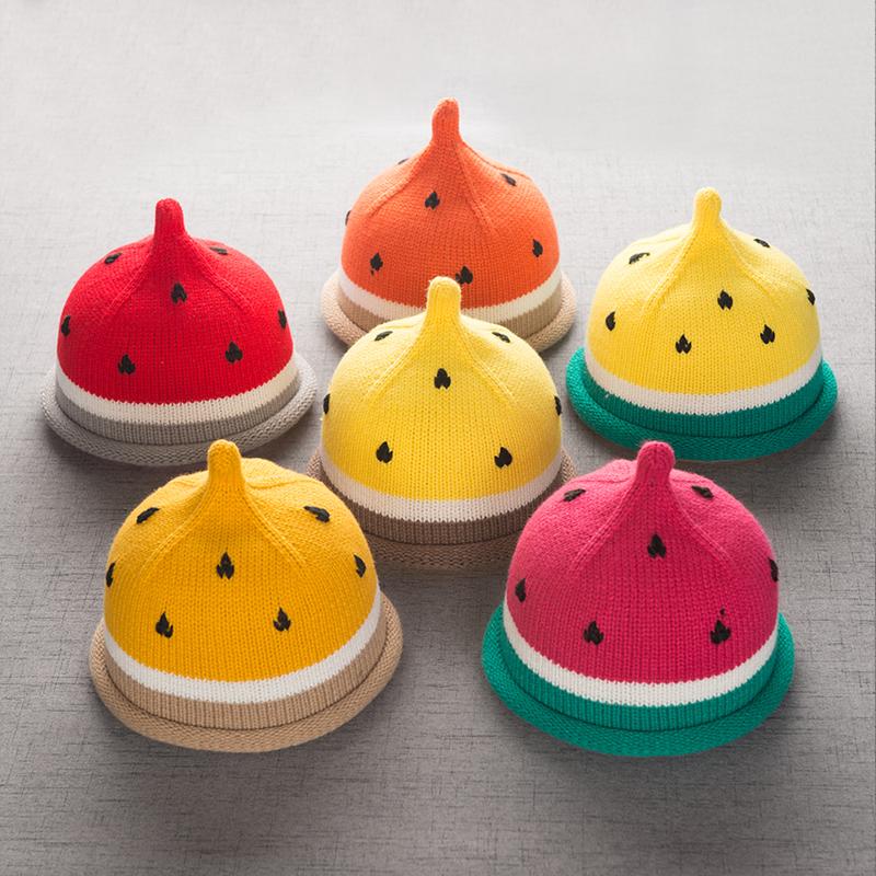 韩版女童秋冬帽子男童西瓜帽宝宝毛线保暖婴儿儿童尖尖帽潮1-6岁