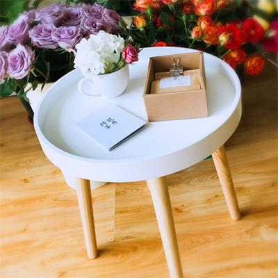 实木腿小圆桌子创意日式简约现代沙发边茶几圆床头柜榻榻米桌迷你