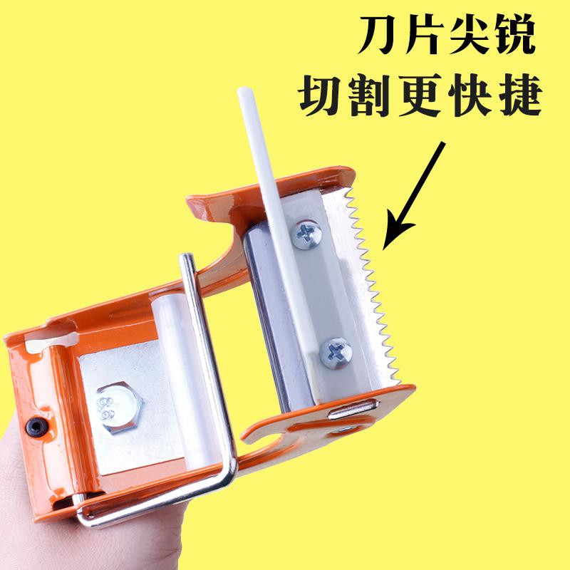 شريط لاصق شفاف لاصق لاصق آلة قطع المعادن الجهاز لاصق آلة التعبئة مربع ختم الشريط كليب 50 جهاز 4-8