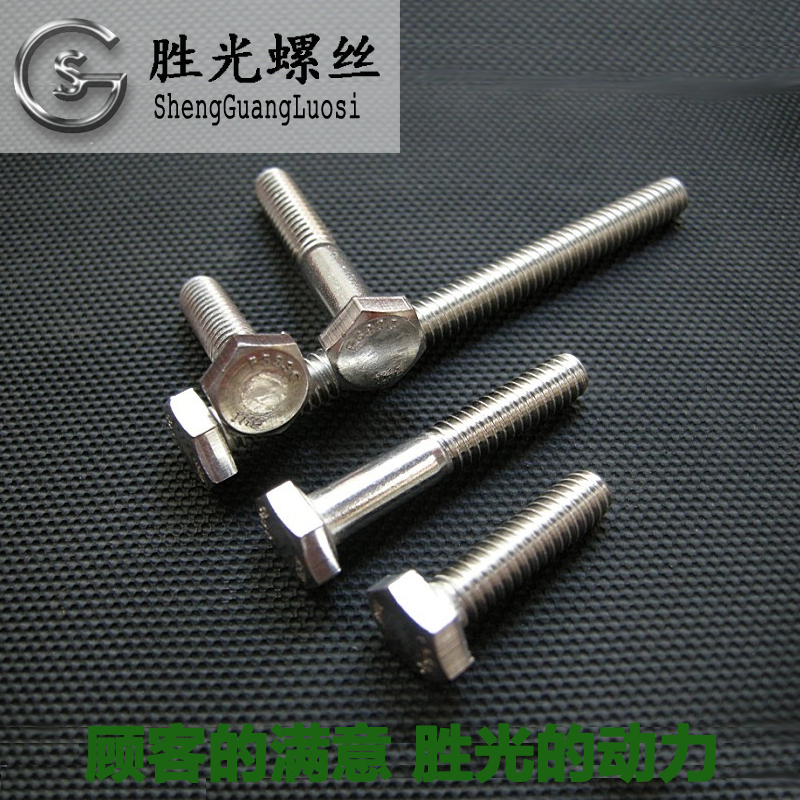 304 stainless steel screws six angle six angle bolts of six stainless steel square screw M12*2010