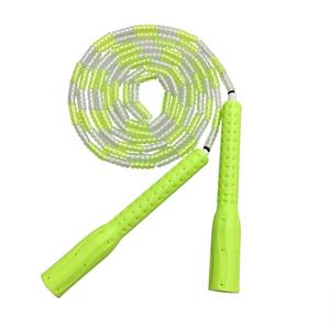竹节儿童跳绳花样珠节中小学生比赛训练软珠子耐磨专业运动健身绳