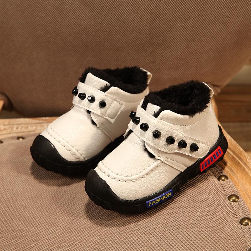 冬季童鞋宝宝学步鞋保暖女童跑步鞋单鞋0-1-2-3岁男童运动鞋皮鞋