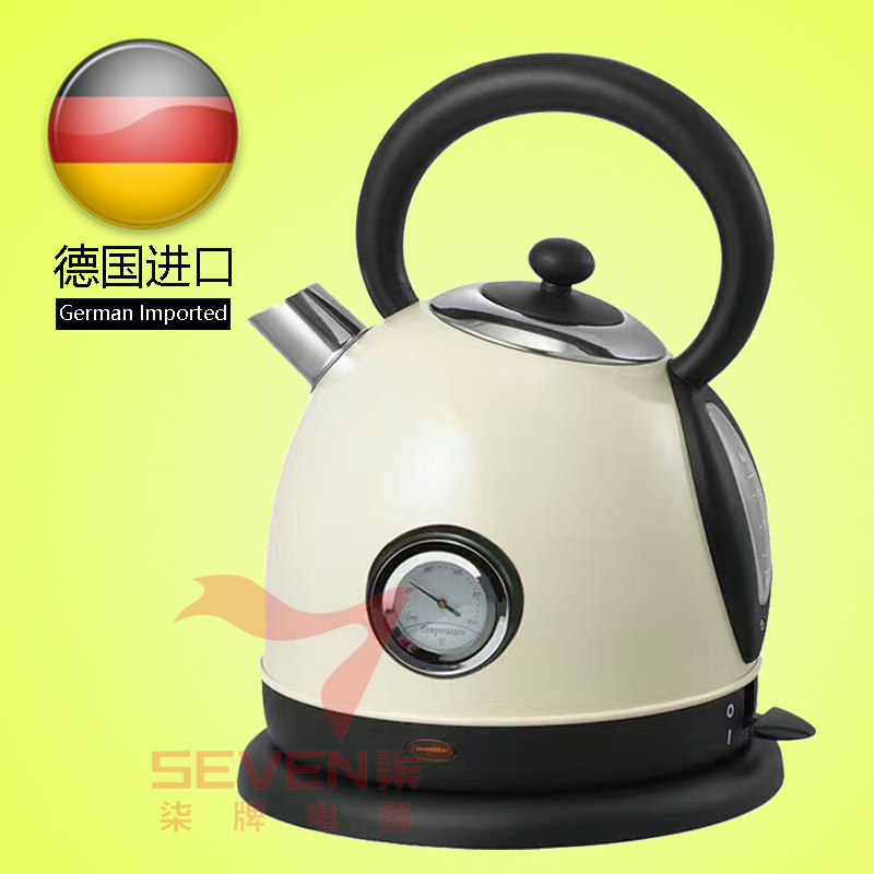 Original imported German Camry electric kettle home silent mute retro piano paint temperature display