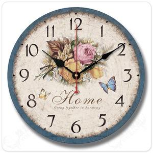 地中海复古美式大客厅欧式田园简约古典装饰创音家用壁挂钟表