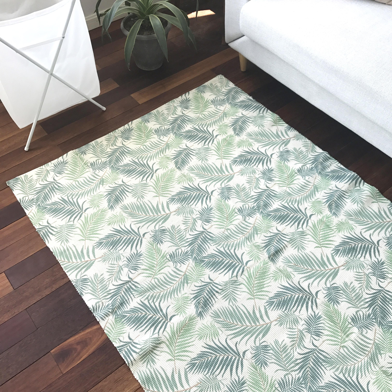 Machine washable pad bedside table tatami room Nordic woven cotton blanket hall bedroom carpet household windows