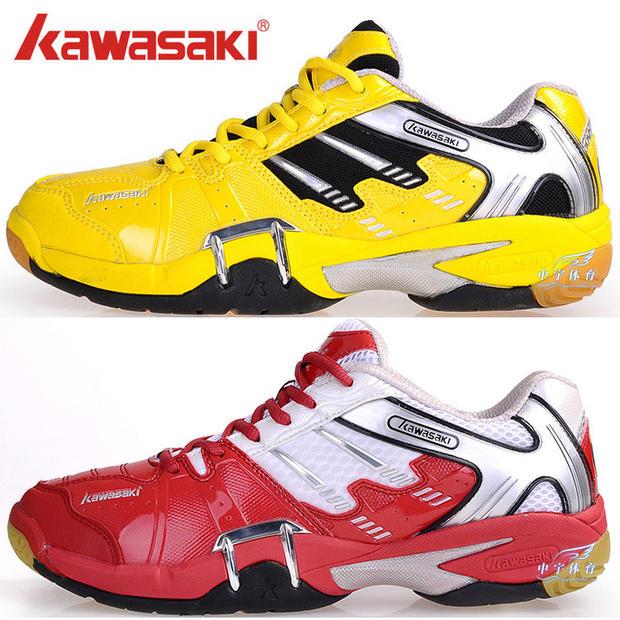 正品KAWASAKI川崎K319羽毛球鞋 男女款 防滑耐磨减震 促销