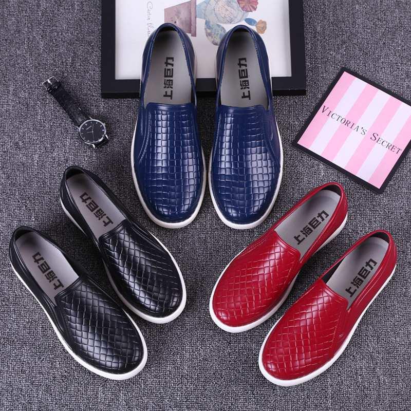 雨鞋男 低帮 轻便防滑防水鞋橡胶厨房厨师鞋塑胶雨靴套鞋时尚水鞋