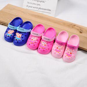儿童凉拖鞋夏男童女童沙滩鞋小猪佩奇小孩洞洞鞋防滑宝宝卡通拖鞋