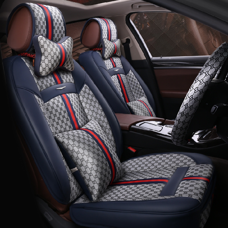 The summer seasons are full of high-grade leather car cushion linen car seat cover cushion new car