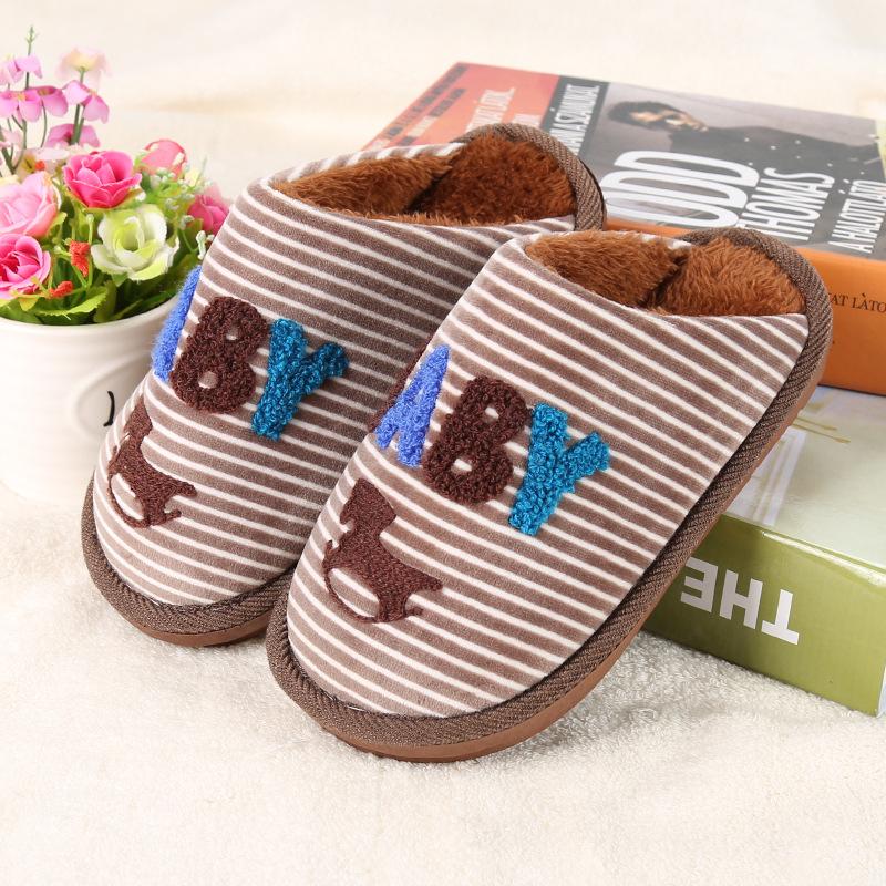 儿童棉拖鞋冬男童女童棉鞋小孩棉拖宝宝毛毛拖鞋冬季亲子一家三口