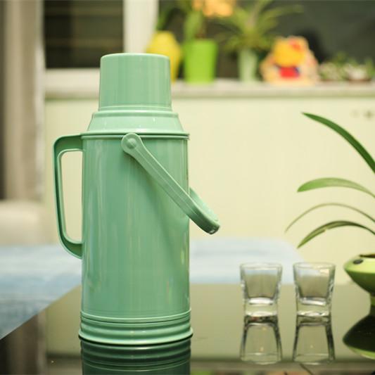 お湯のプラスチック水瓶魔法瓶温かい水復古水瓶ポットやかん家庭用竹製魔法瓶湯