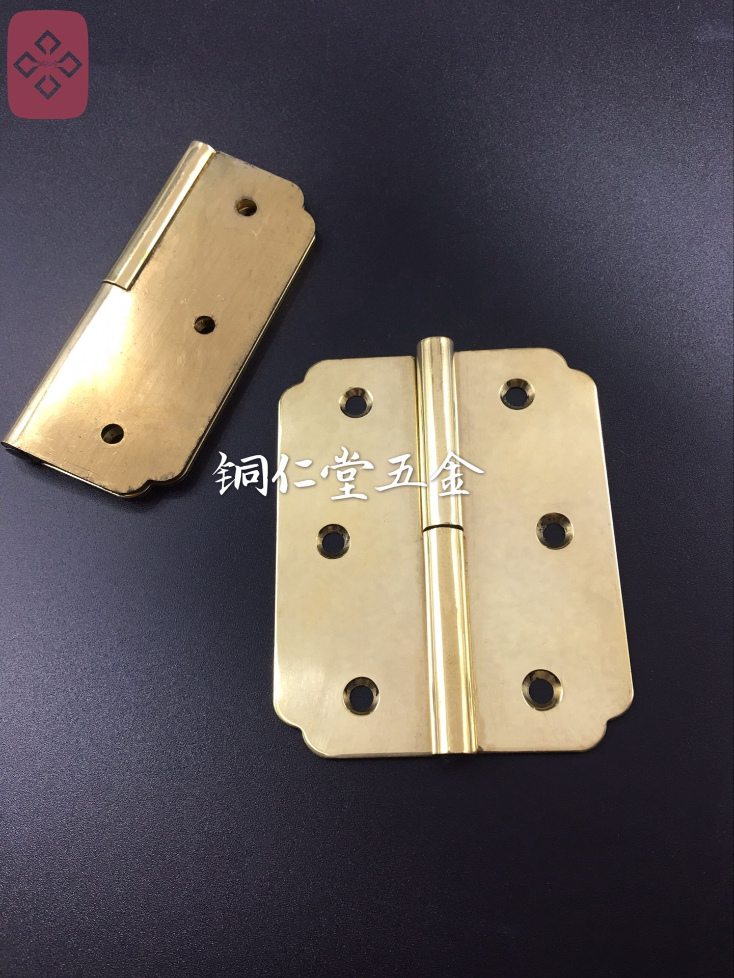 精銅明装ヒンジ家具金属パーツ中国式の銅部品頂箱柜ヒンジキャビネットヒンジ