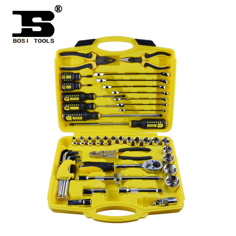 48 automotive mechanical repair tool group socket wrench set hardware kit BS511048