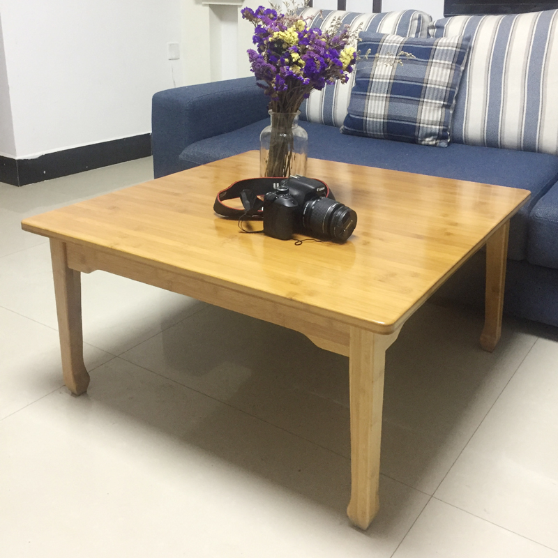 The bamboo bed tatami wood square table table table window of modern minimalist Kang Table table.