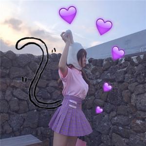 粉色皮搭扣少女ins火高腰粉色格子百褶裙短裙裤甜美ulzzang学院风