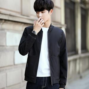富贵鸟夹克男新款春秋季修身薄款时尚潮流棒球服休闲茄克衫外套