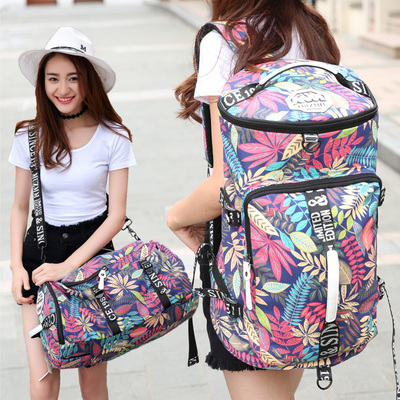Mountaineering Backpack Large-capacity canvas shoulder bag female travel luggage bag ultra light sports backpack male