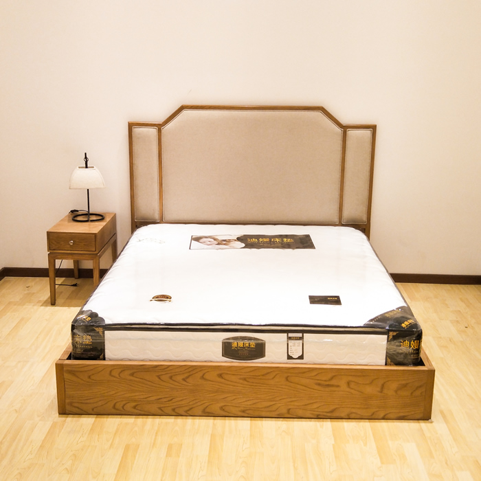 Double bed 1.8 meters of solid wood cloth by combination of soft modern Chinese style hotel room custom furniture bed