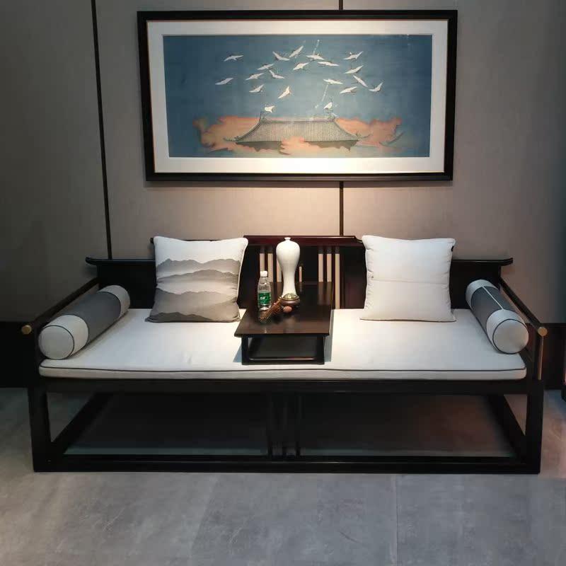 新中国の羅漢ベッドリビングソファベッド貴妃寝室寝込んだモデルハウスホテル会所材の家具を注文して作らせて