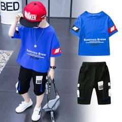 童装男童男孩夏装套装2019新款夏款洋气帅气运动短袖韩版大儿童潮