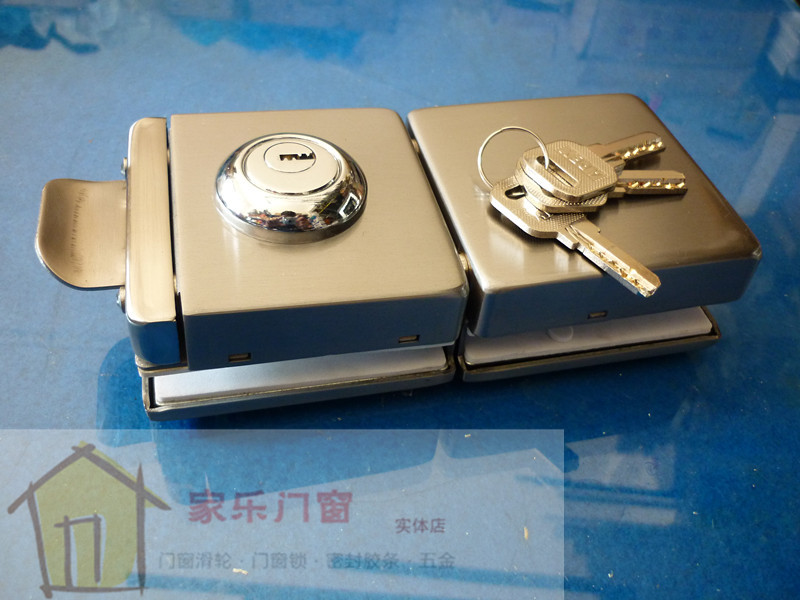 Single root type stainless steel double door glass lock frameless glass door glass door glass central door lock