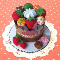 DIY nonwoven materials bag / non-woven material bag / round cake cake series F