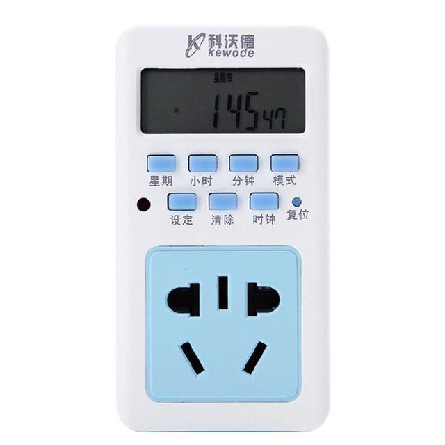 Un interruptor electrónico de tipo eléctrico tipo de temporizador electrónico de control de control de energía t01 enchufe inteligente