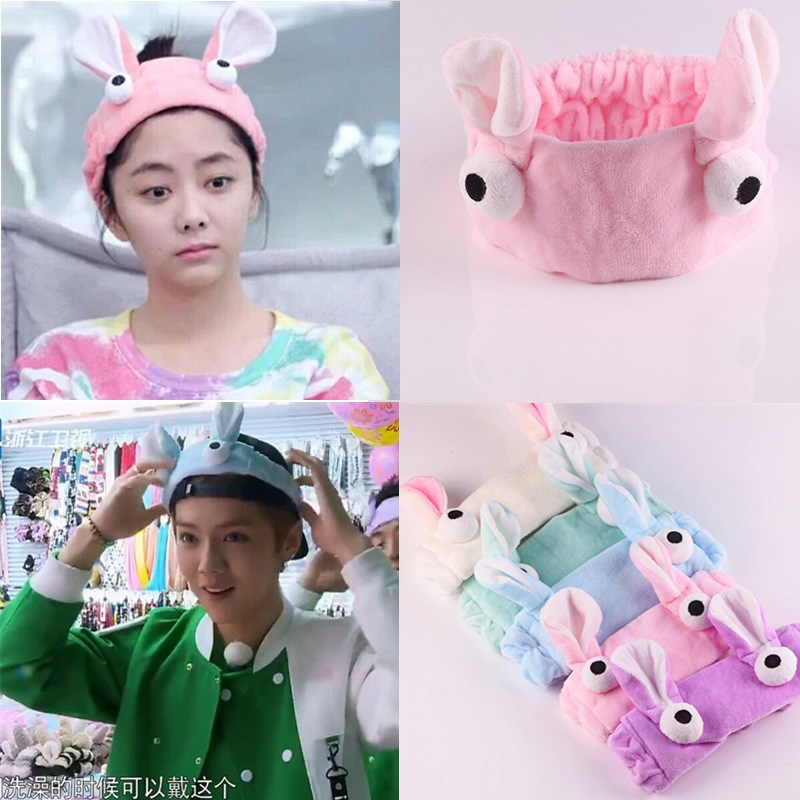 Cute rabbit rabbit ears face South Korea Korean hair hairpin pressure cathead hoop cave female adult Hair Barrette
