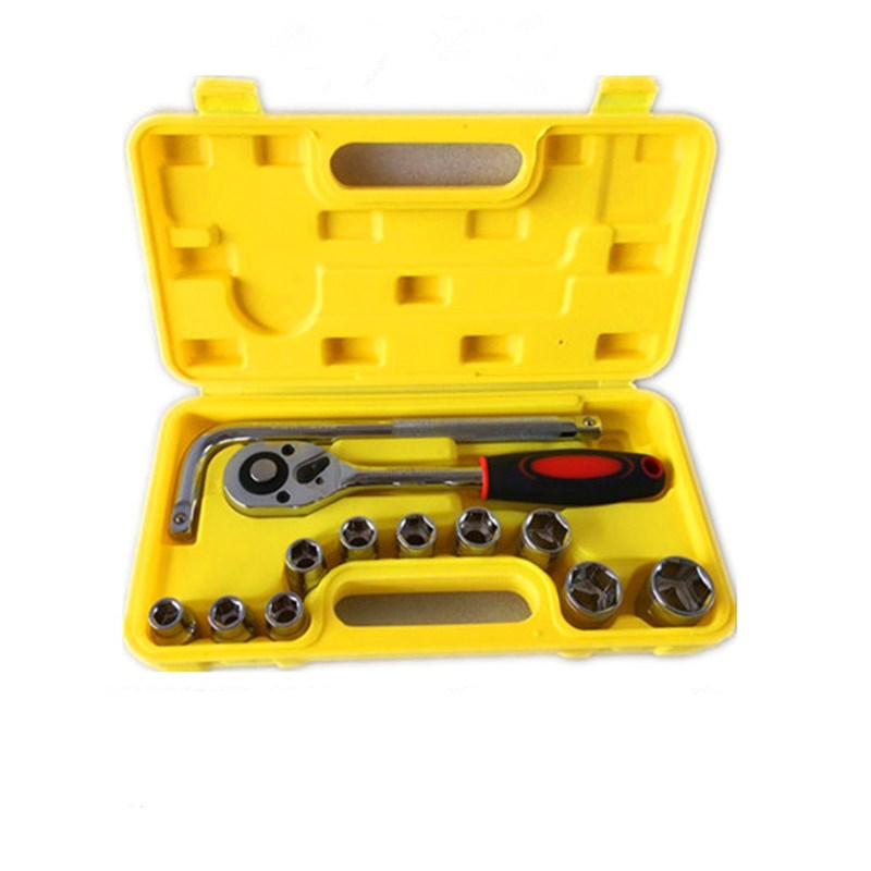 Shipping a chrome vanadium steel 8-27mm auto repair combined with socket wrench set 13 car repair kit