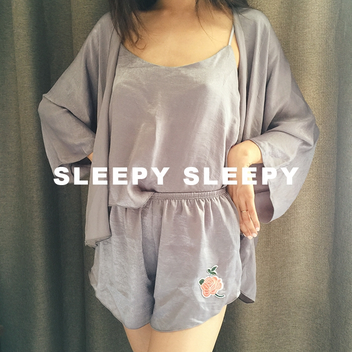 Sleepy imitation silk pajamas silk clothing Home Furnishing four sets of super comfortable strongly recommended retention